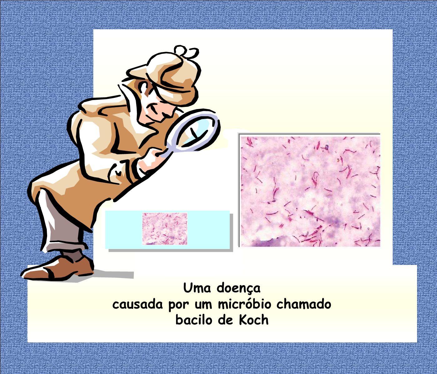 Uma doença causada por um micróbio chamado bacilo de Koch
