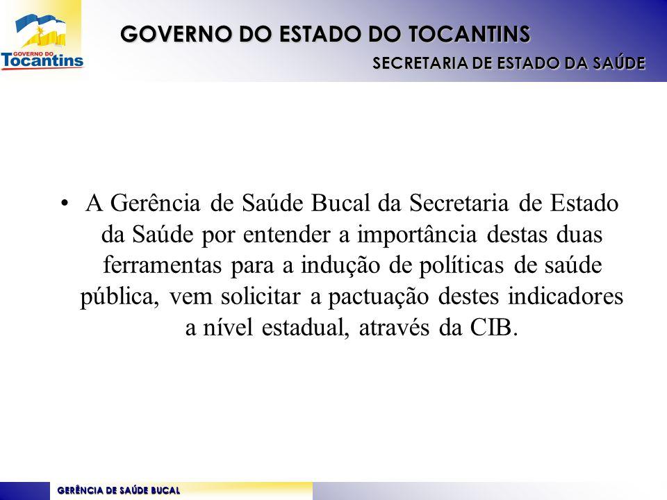 GERÊNCIA DE SAÚDE BUCAL GOVERNO DO ESTADO DO TOCANTINS SECRETARIA DE ESTADO DA SAÚDE OBRIGADA!!.