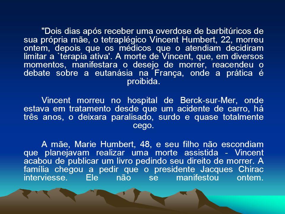 `Je Vous Demande le Droit de Mourir (Peço-lhe o direito de morrer), o segundo livro mais vendido no site virtual amazon.fr, foi lançado anteontem.