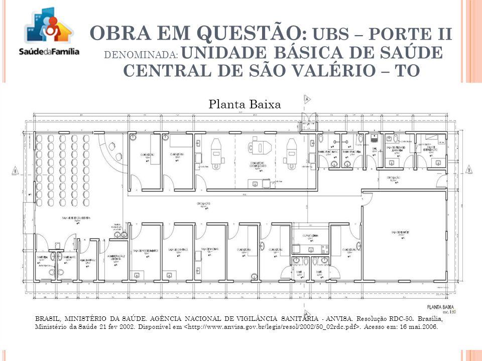 Planta Baixa BRASIL, MINISTÉRIO DA SAÚDE.AGÊNCIA NACIONAL DE VIGILÂNCIA SANITÁRIA - ANVISA.