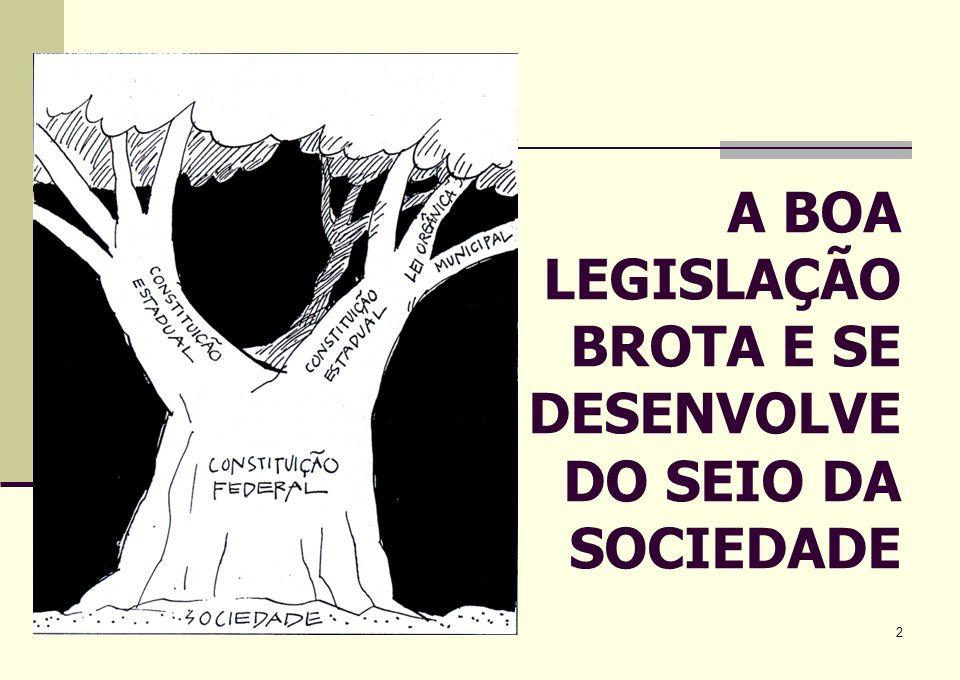 2 A BOA LEGISLAÇÃO BROTA E SE DESENVOLVE DO SEIO DA SOCIEDADE