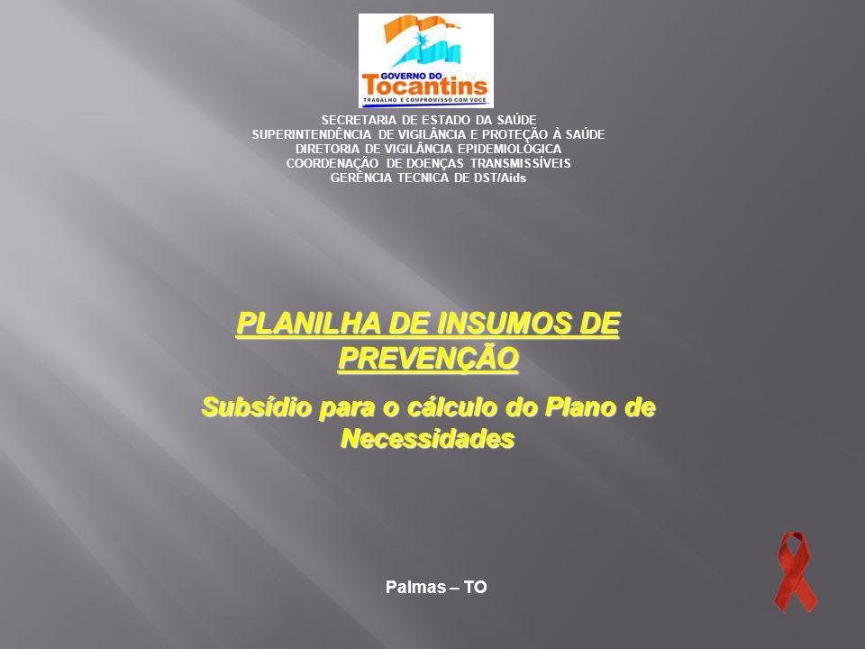 Palmas – TO SECRETARIA DE ESTADO DA SAÚDE SUPERINTENDÊNCIA DE VIGILÂNCIA E PROTEÇÃO À SAÚDE DIRETORIA DE VIGILÂNCIA EPIDEMIOLÓGICA COORDENAÇÃO DE DOEN