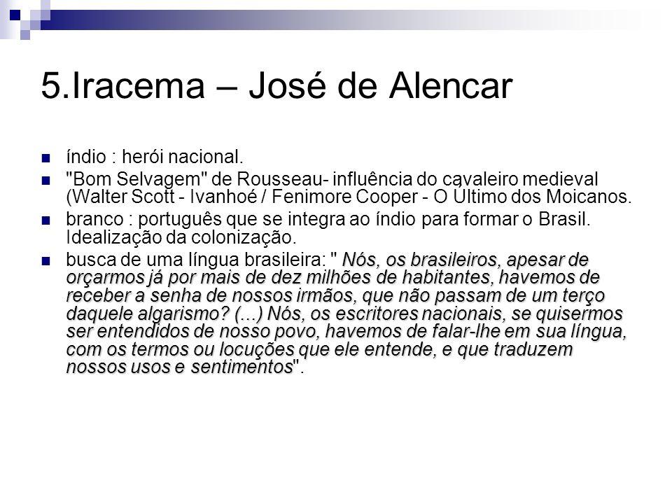 5.Iracema – José de Alencar índio : herói nacional.