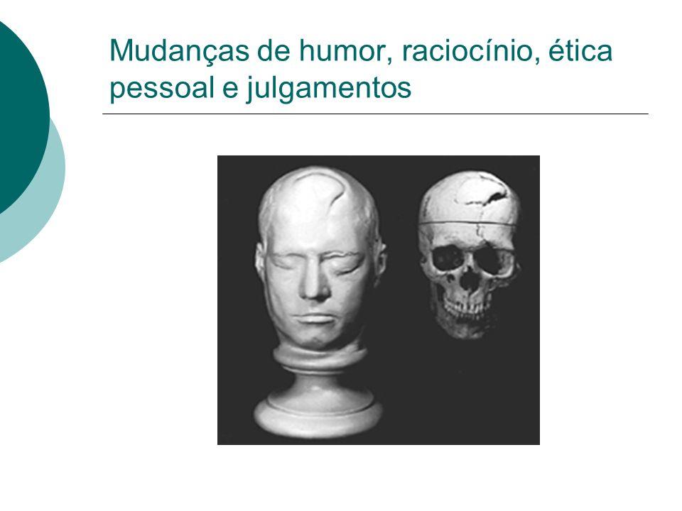 Mudanças de humor, raciocínio, ética pessoal e julgamentos