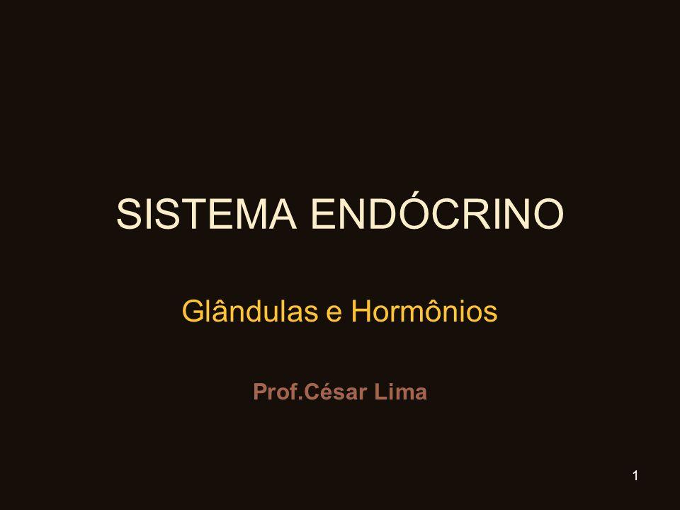 SISTEMA ENDÓCRINO Glândulas e Hormônios Prof.César Lima 1