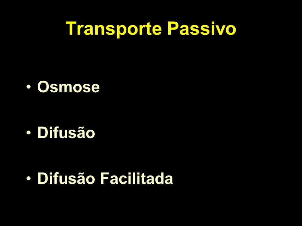 Transporte Passivo Osmose Difusão Difusão Facilitada