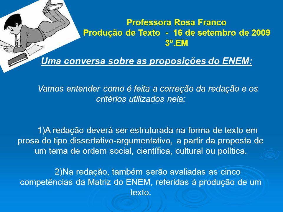 Eixos Cognitivos (Matriz/2009): I.