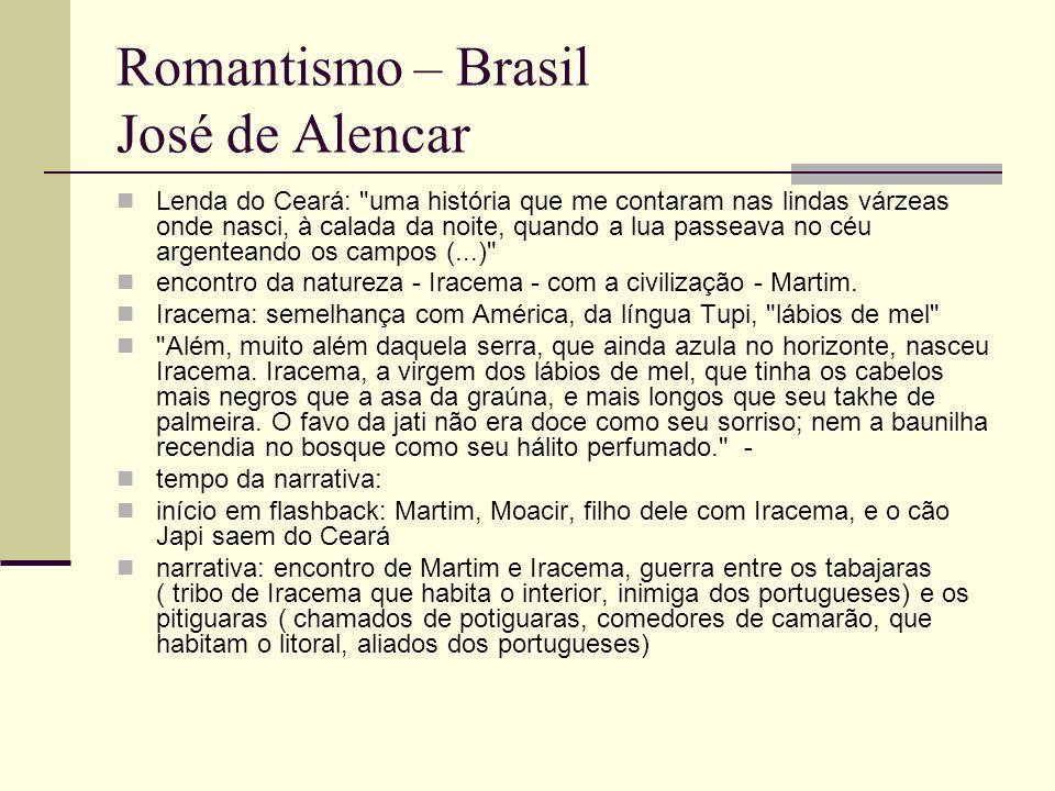 Romantismo – Brasil José de Alencar Lenda do Ceará: