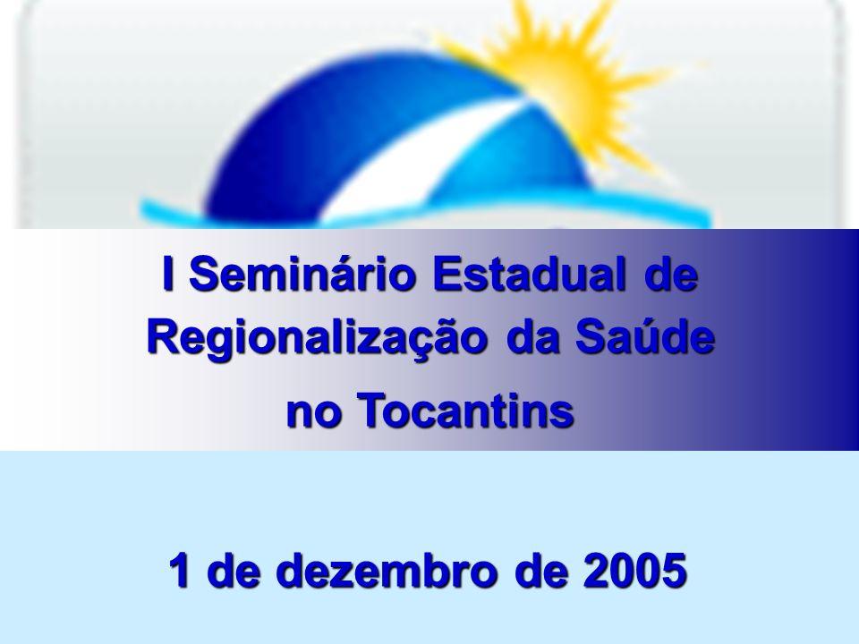 I – Regionalização e Organização da Assistência A NOAS SUS 01/2002 – TOCANTINS 1.Elaboração do Plano Diretor de Regionalização; Resolução da CES – n.º 01/2002 – 10/01/2002 – Dispõe sobre o Plano Diretor de Regionalização – PDR Resolução da CIB – n.º 044/2001 – 11/12/2001 – Dispõe sobre o PDR – Plano Diretor de Regionalização