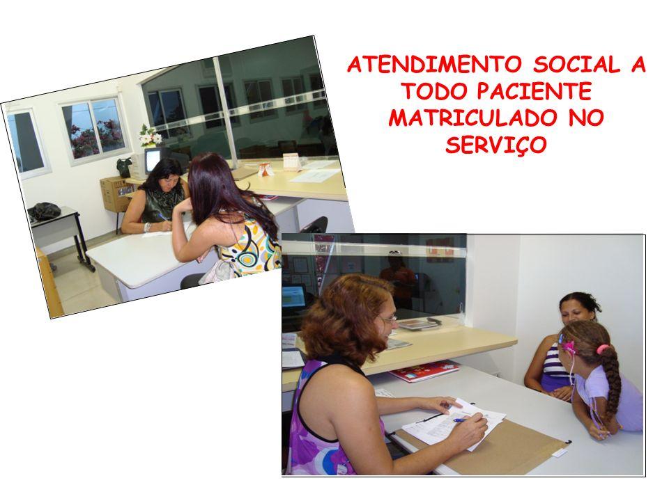 ATENDIMENTO SOCIAL A TODO PACIENTE MATRICULADO NO SERVIÇO