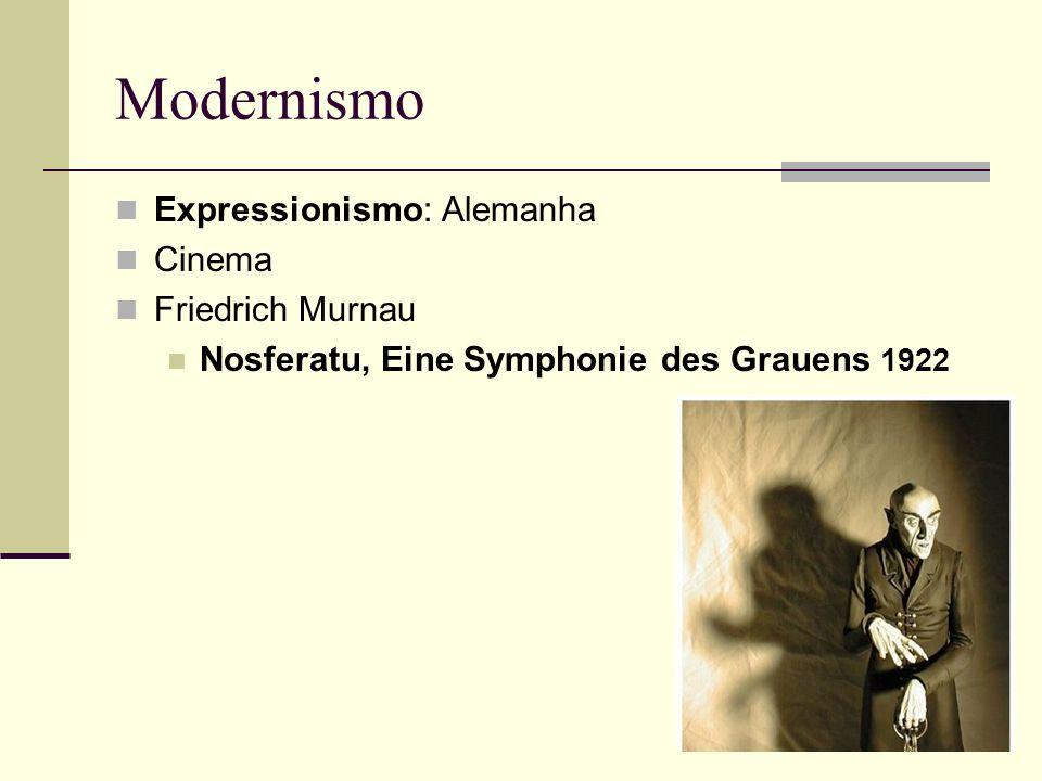 Modernismo Expressionismo: Alemanha Cinema Friedrich Murnau Nosferatu, Eine Symphonie des Grauens 1922