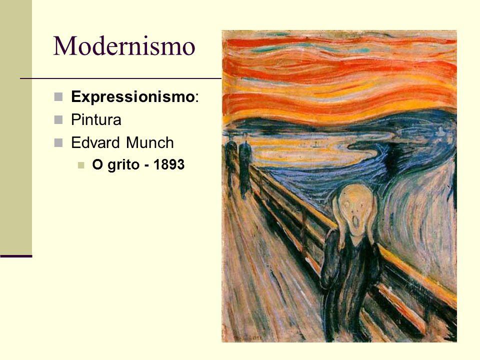 Modernismo Expressionismo: Pintura Edvard Munch O grito - 1893