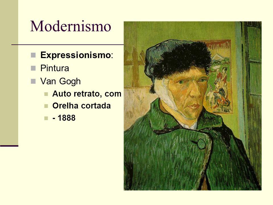 Modernismo Expressionismo: Pintura Van Gogh Auto retrato, com Orelha cortada - 1888