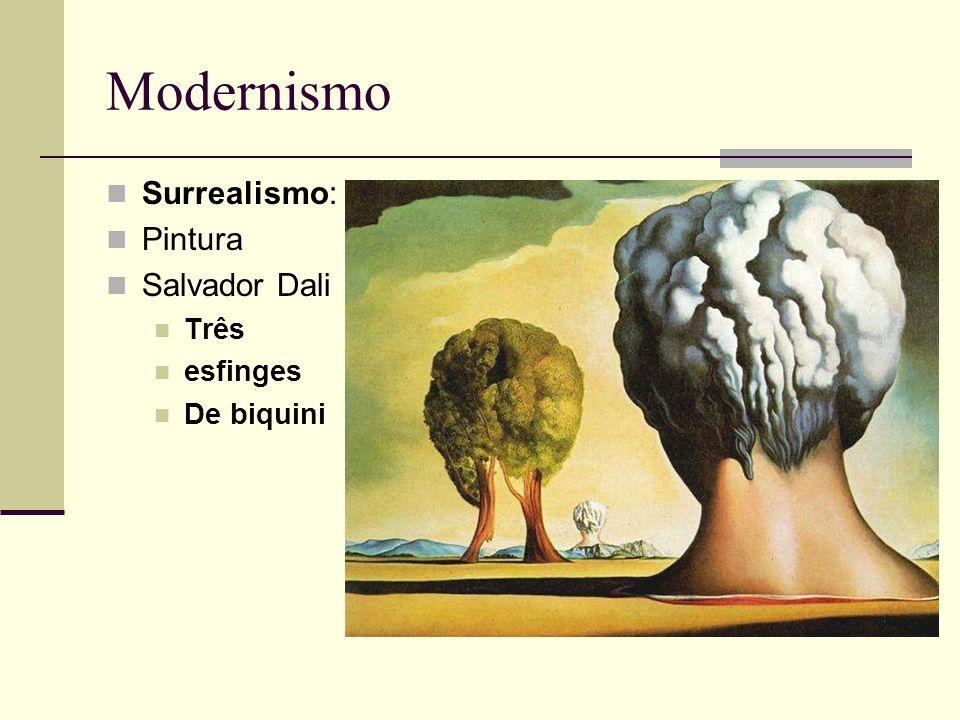Modernismo Surrealismo: Pintura Salvador Dali Três esfinges De biquini