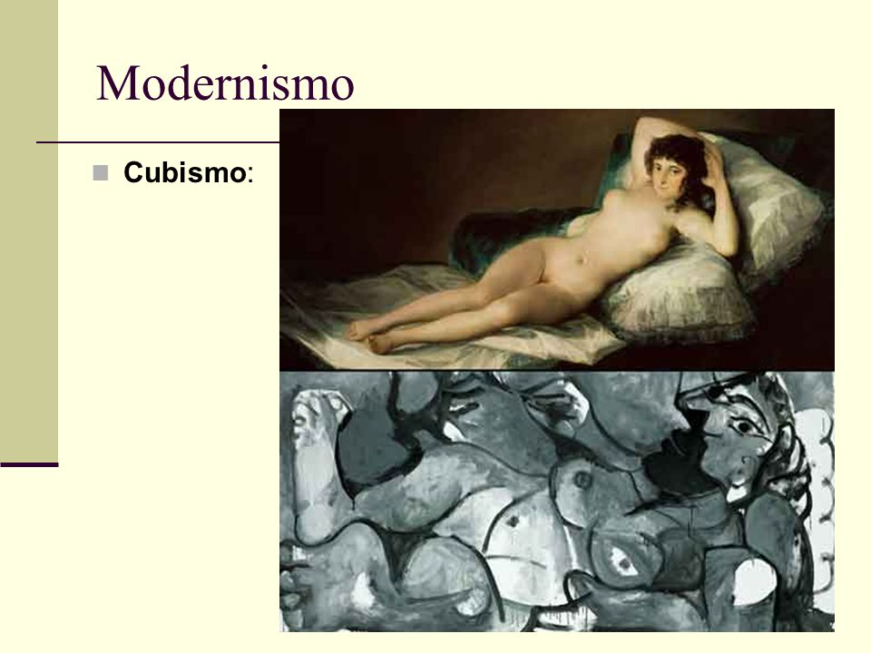 Modernismo Cubismo: