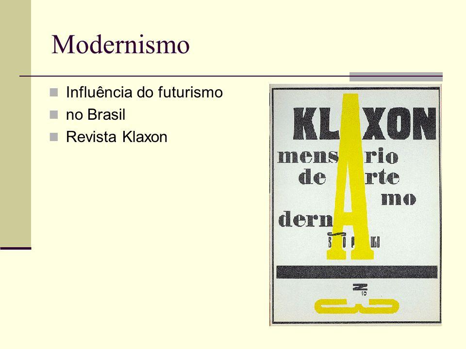 Modernismo Influência do futurismo no Brasil Revista Klaxon