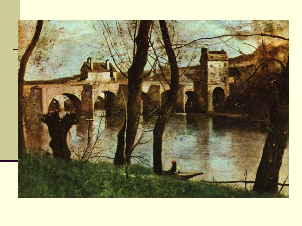 Modernismo Impressionismo: Realidade : pintura acadêmica Corot, A Ponte de Nantes, 1868