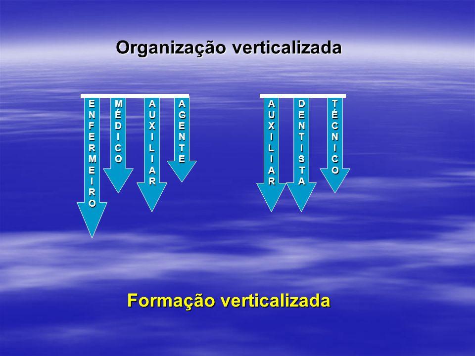 Formação verticalizada AUXILIARAUXILIARAUXILIARAUXILIAR MÉDICOMÉDICOMÉDICOMÉDICO AUXILIARAUXILIARAUXILIARAUXILIAR TÉCNICOTÉCNICOTÉCNICOTÉCNICO DENTIST