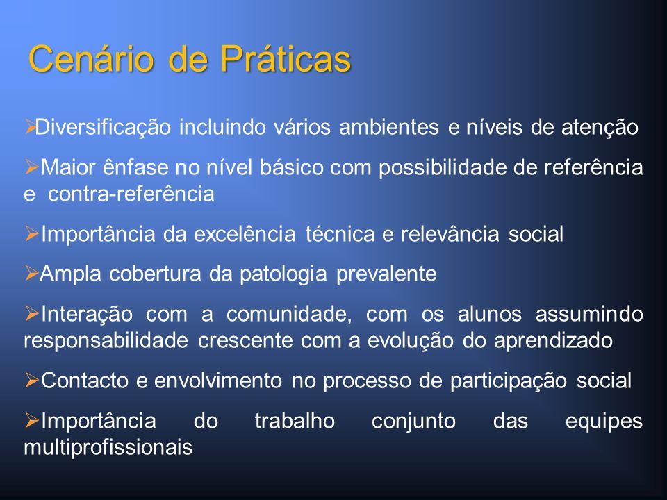 Diversificação incluindo vários ambientes e níveis de atenção Maior ênfase no nível básico com possibilidade de referência e contra-referência Importâ