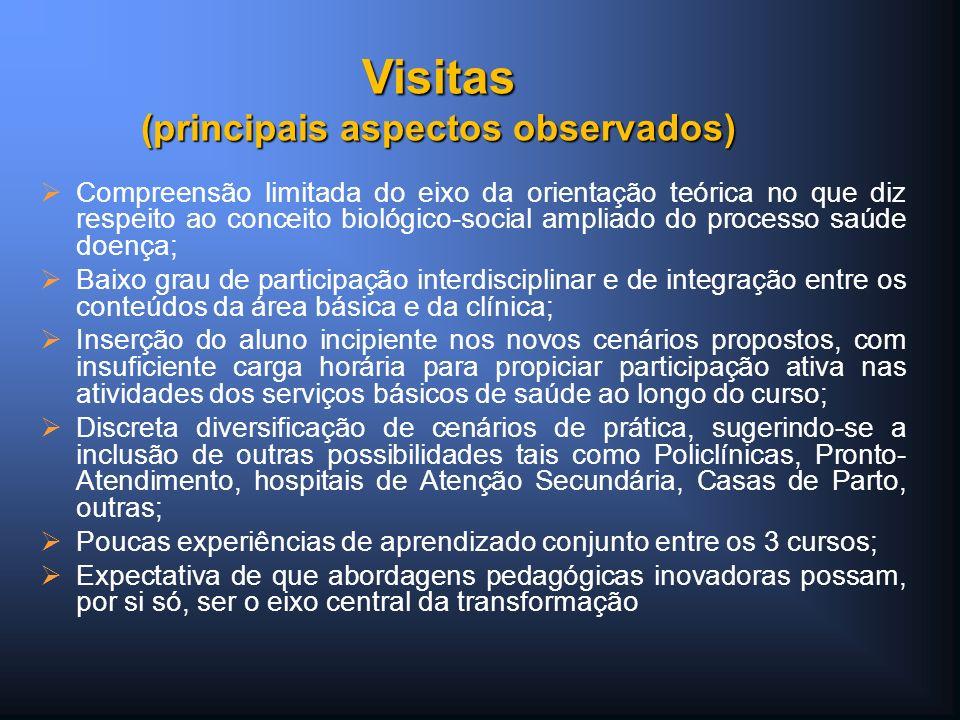 Compreensão limitada do eixo da orientação teórica no que diz respeito ao conceito biológico-social ampliado do processo saúde doença; Baixo grau de p