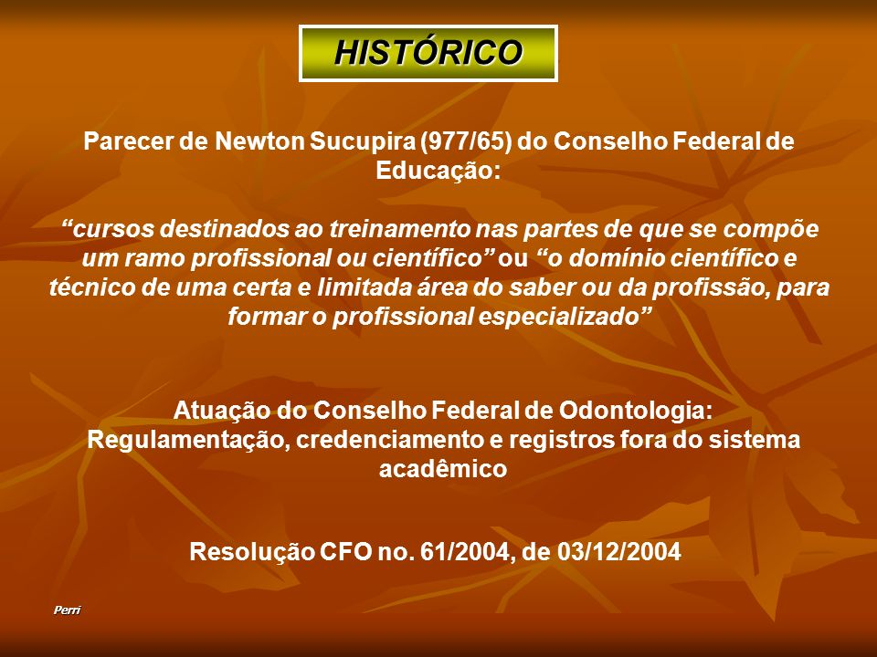 Parecer de Newton Sucupira (977/65) do Conselho Federal de Educação: cursos destinados ao treinamento nas partes de que se compõe um ramo profissional