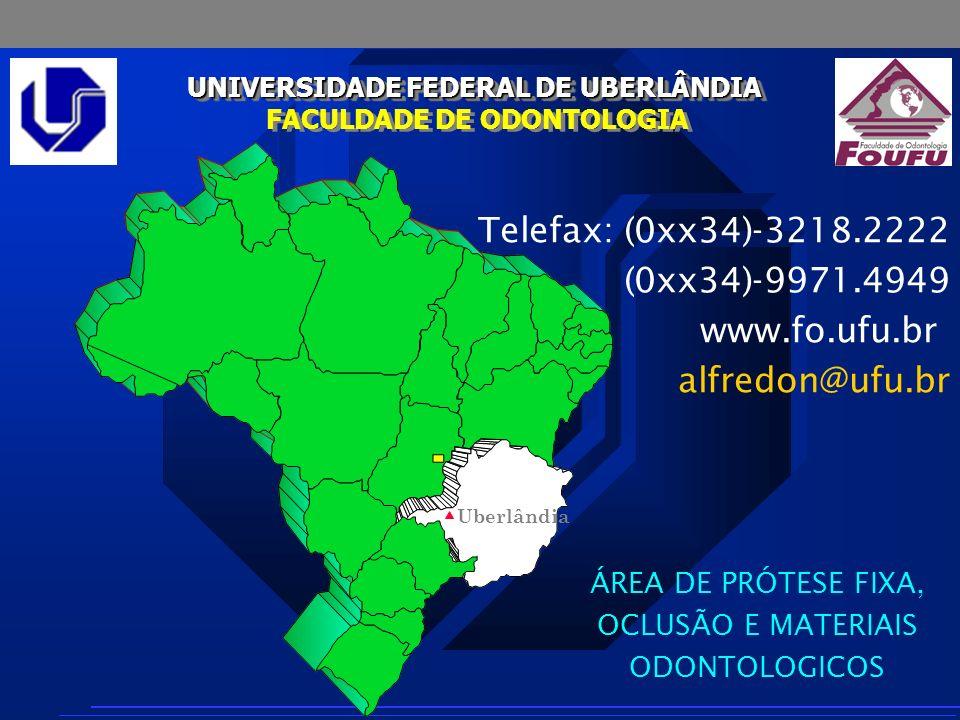AJ Fernandes Neto UNIVERSIDADE FEDERAL DE UBERLÂNDIA FACULDADE DE ODONTOLOGIA UNIVERSIDADE FEDERAL DE UBERLÂNDIA FACULDADE DE ODONTOLOGIA Telefax: (0x