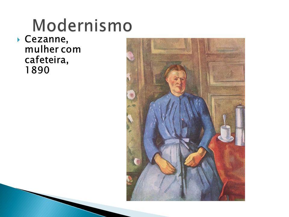 Cezanne, mulher com cafeteira, 1890
