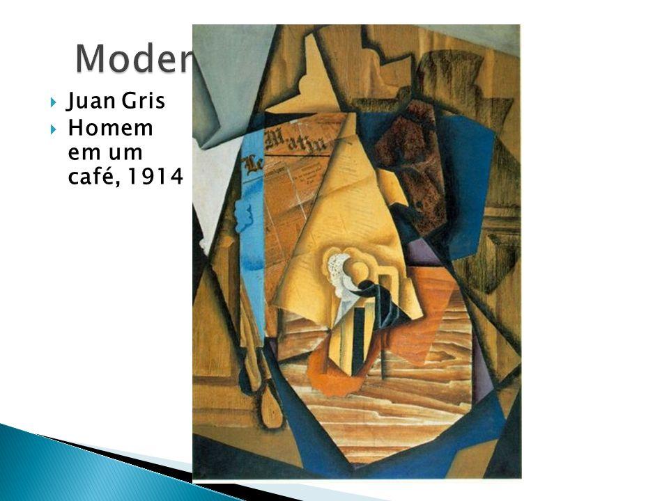 Juan Gris Homem em um café, 1914