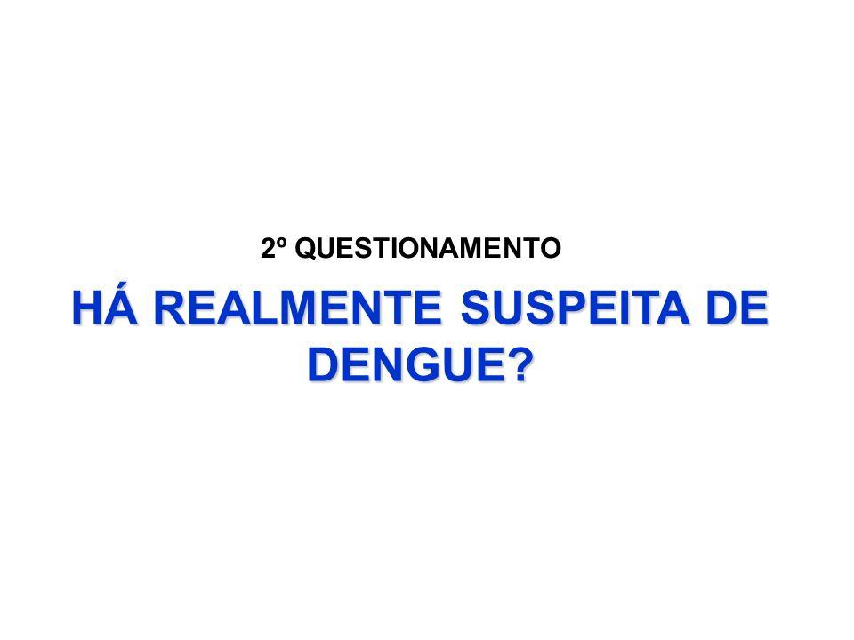 HÁ REALMENTE SUSPEITA DE DENGUE? 2º QUESTIONAMENTO