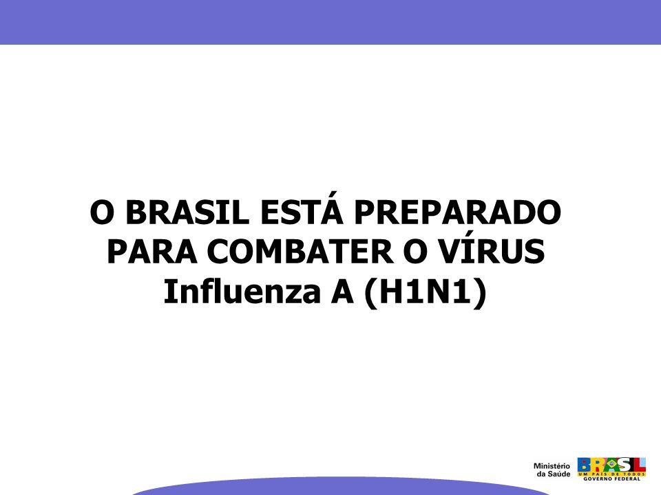 O BRASIL ESTÁ PREPARADO PARA COMBATER O VÍRUS Influenza A (H1N1)