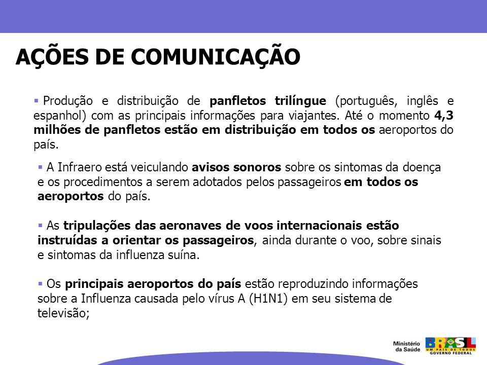 Produção e distribuição de panfletos trilíngue (português, inglês e espanhol) com as principais informações para viajantes. Até o momento 4,3 milhões