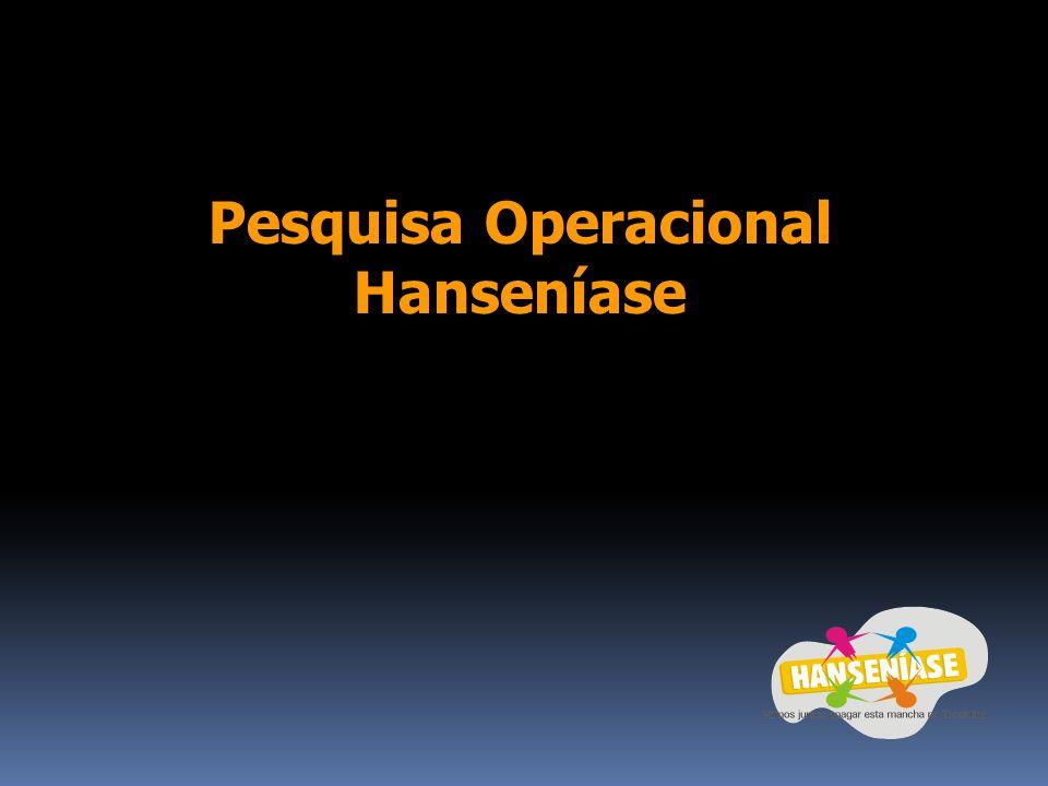 Pesquisa Operacional Hanseníase