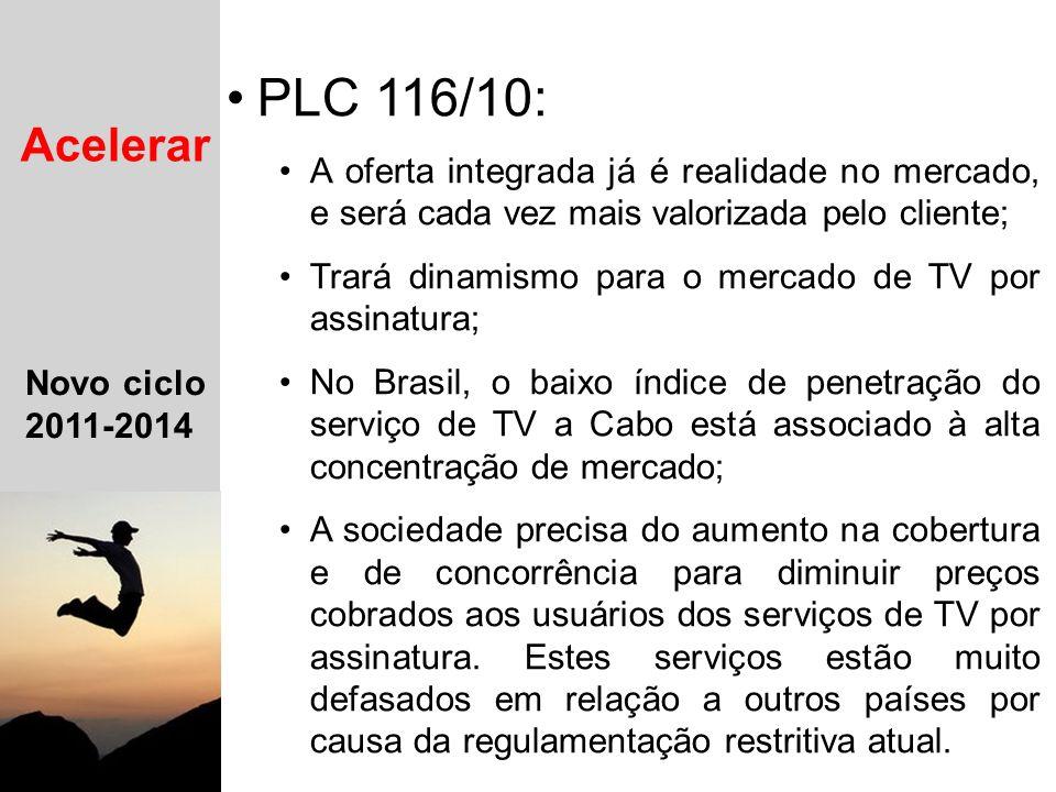 11 Novo ciclo 2011-2014 Mantendo as conquistas alcançadas Evoluindo o modelo legal e regulatório Estimulando o uso dos serviços Acelerar