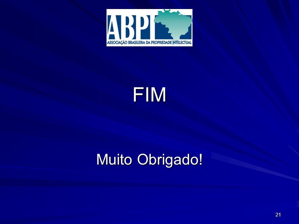FIM Muito Obrigado! 21