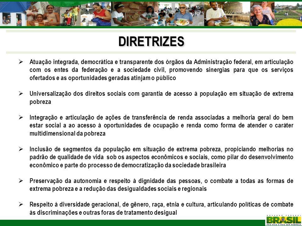Atuação integrada, democrática e transparente dos órgãos da Administração federal, em articulação com os entes da federação e a sociedade civil, promo