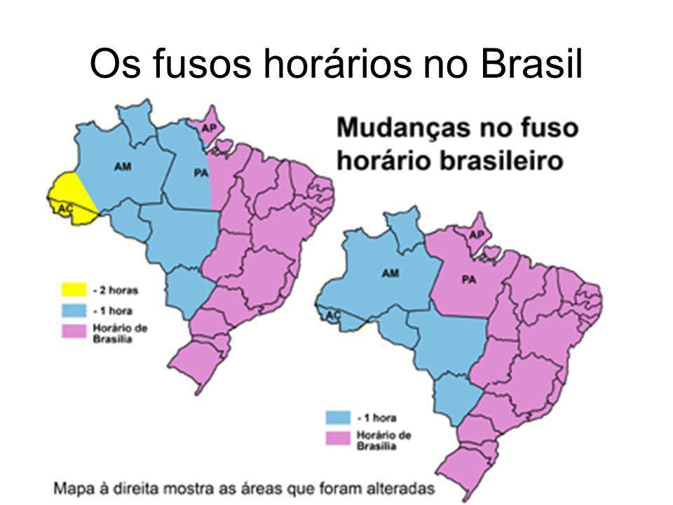 Os fusos horários no Brasil