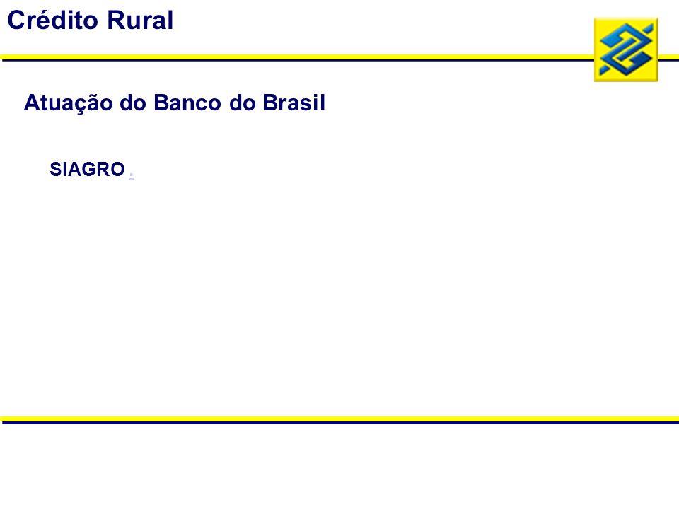 SIAGRO.. Crédito Rural Atuação do Banco do Brasil