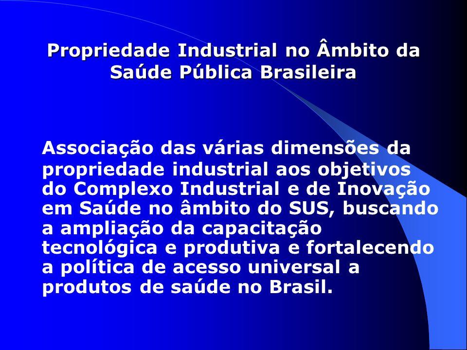 Associação das várias dimensões da propriedade industrial aos objetivos do Complexo Industrial e de Inovação em Saúde no âmbito do SUS, buscando a amp