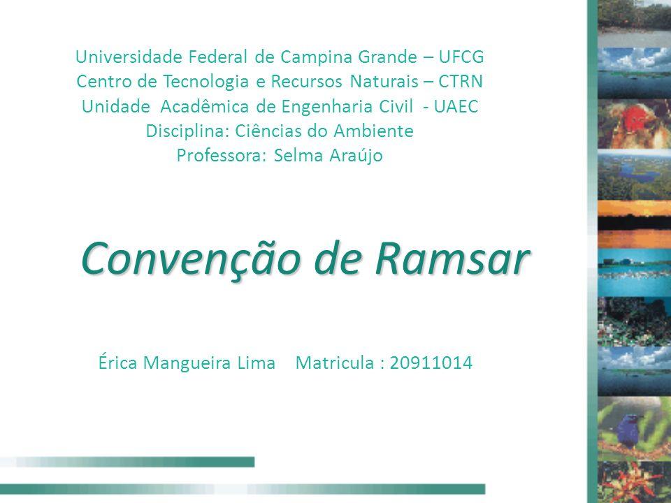 Convenção de Ramsar Universidade Federal de Campina Grande – UFCG Centro de Tecnologia e Recursos Naturais – CTRN Unidade Acadêmica de Engenharia Civi