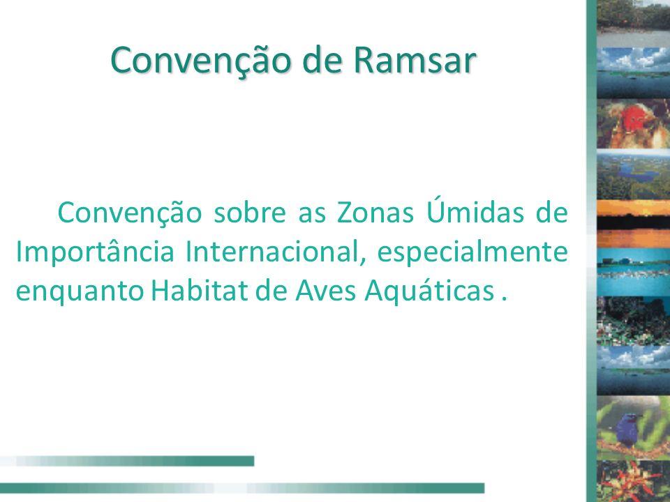 Convenção de Ramsar Convenção sobre as Zonas Úmidas de Importância Internacional, especialmente enquanto Habitat de Aves Aquáticas.