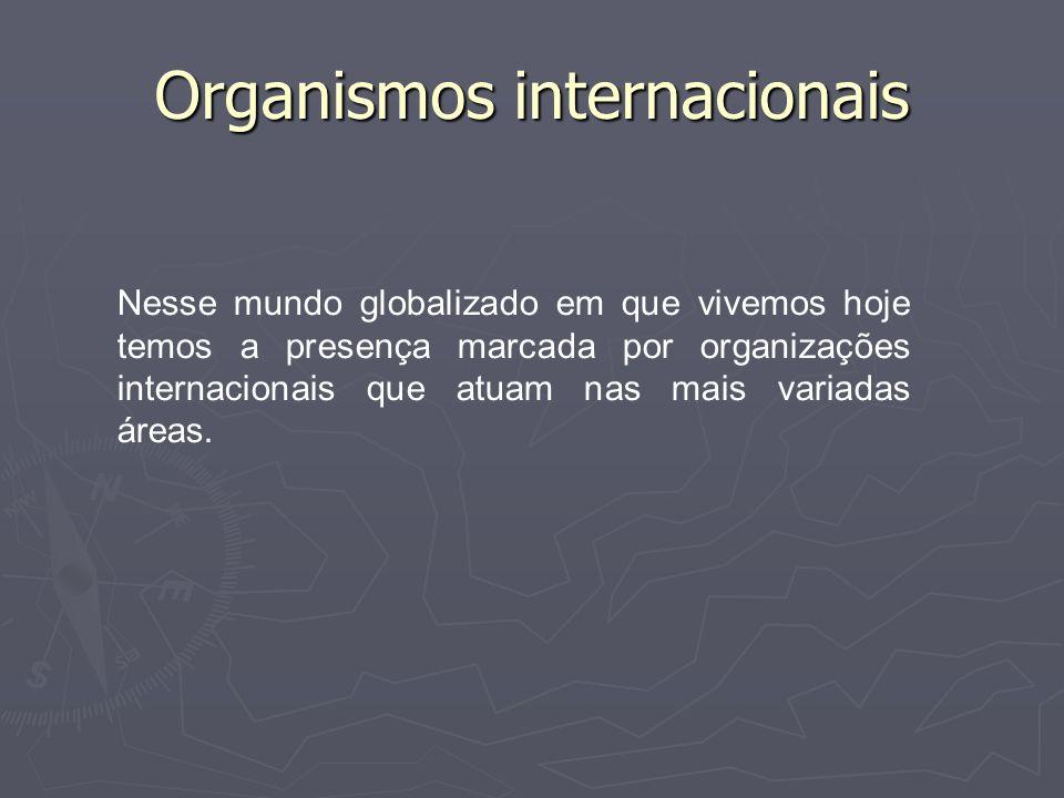 ONU A Organização das Nações Unidas (ONU) é o organismo internacional que surge no final da II Guerra Mundial em substituição à Liga das Nações.