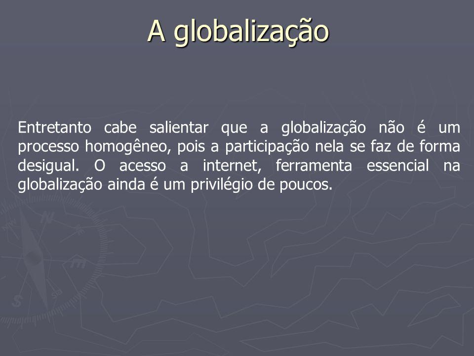 A globalização e a internet