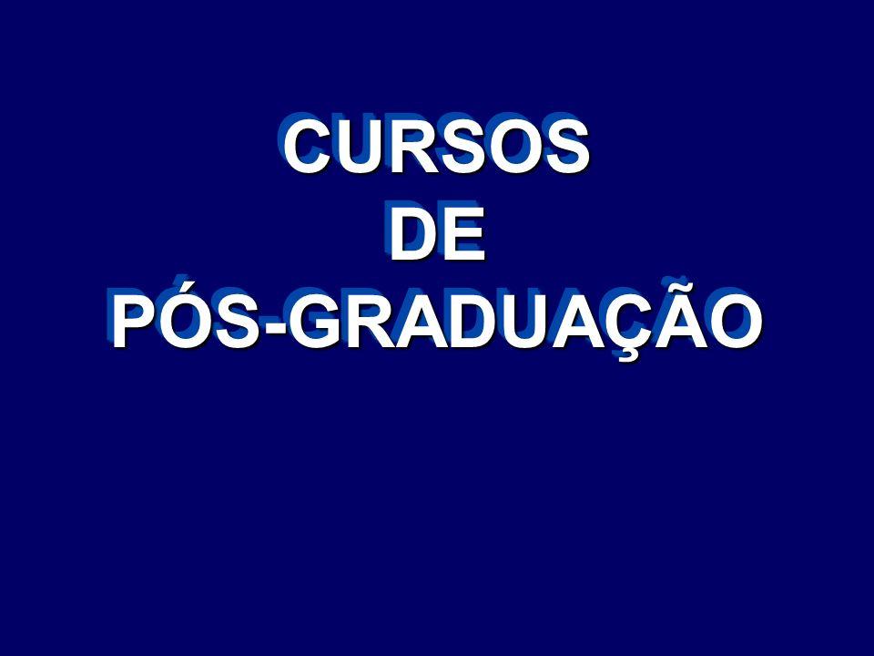 CURSOS DE PÓS-GRADUAÇÃO