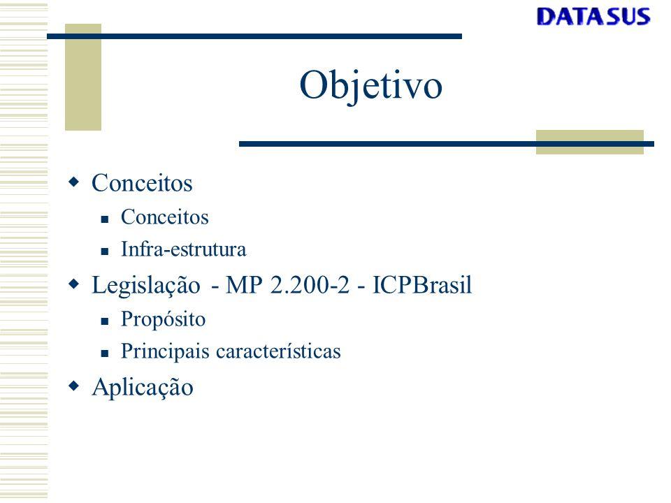 ICP - Definição Infra-estrutura de Chaves Públicas ntegridadePrivacidade,utenticidade Processos normativos e recursos computacionais para gerência de certificados digitais que visam garantir Integridade, Privacidade, Autenticidade em uma transação eletrônica entre entidades finais.