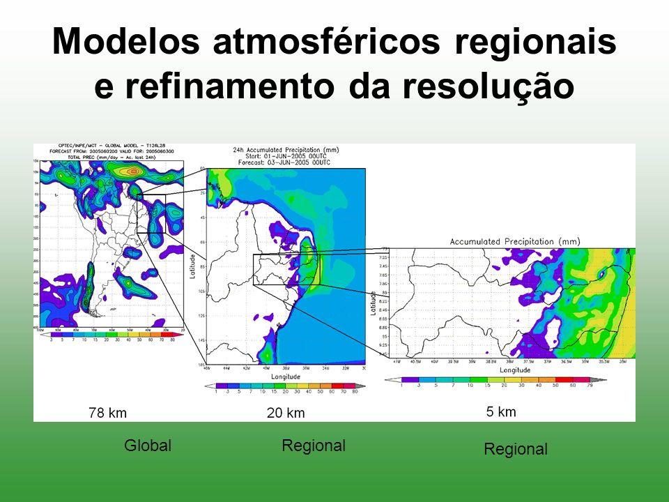 Modelos atmosféricos regionais e refinamento da resolução GlobalRegional