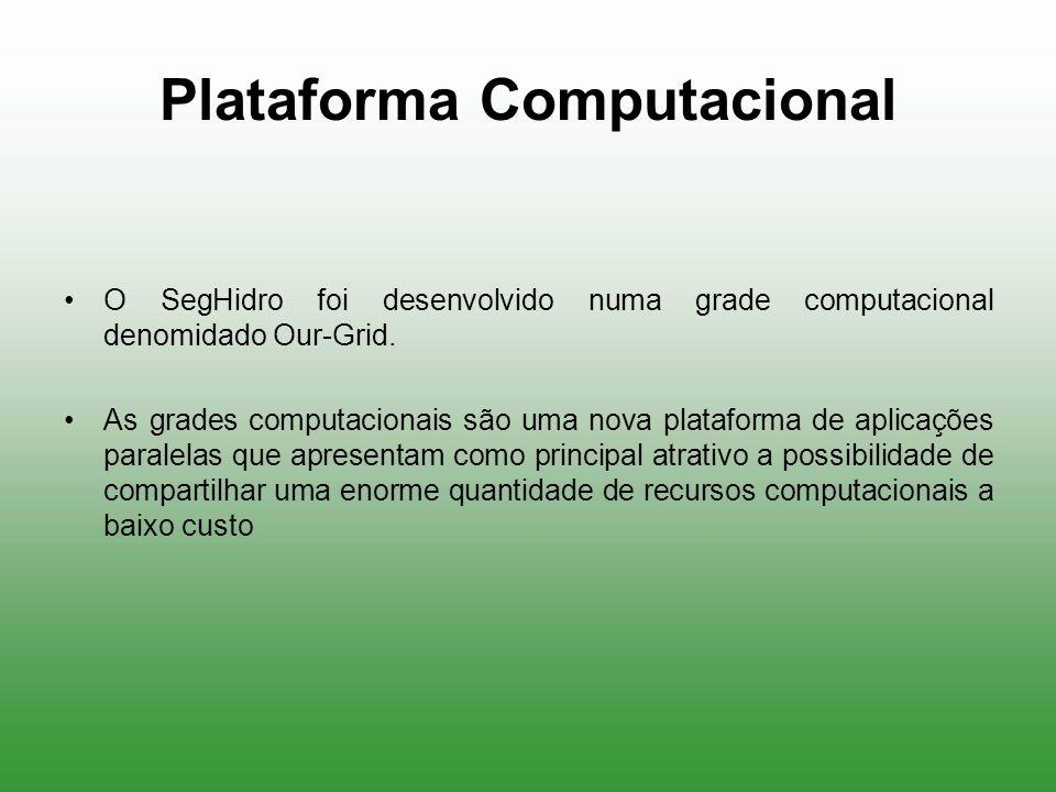Plataforma Computacional O SegHidro foi desenvolvido numa grade computacional denomidado Our-Grid. As grades computacionais são uma nova plataforma de
