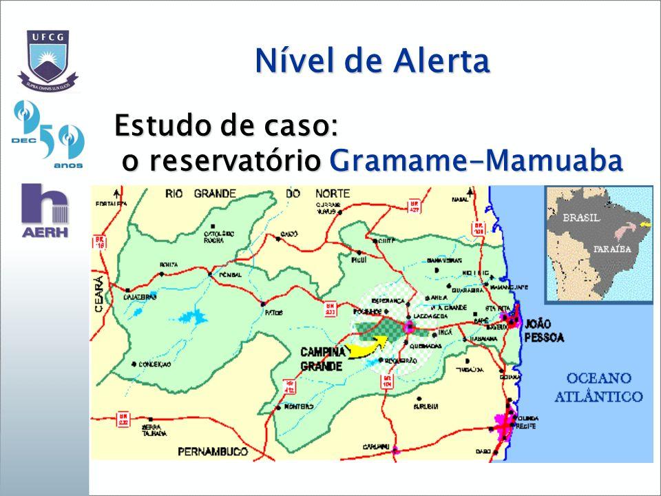Nível de Alerta Estudo de caso: o reservatório Gramame-Mamuaba
