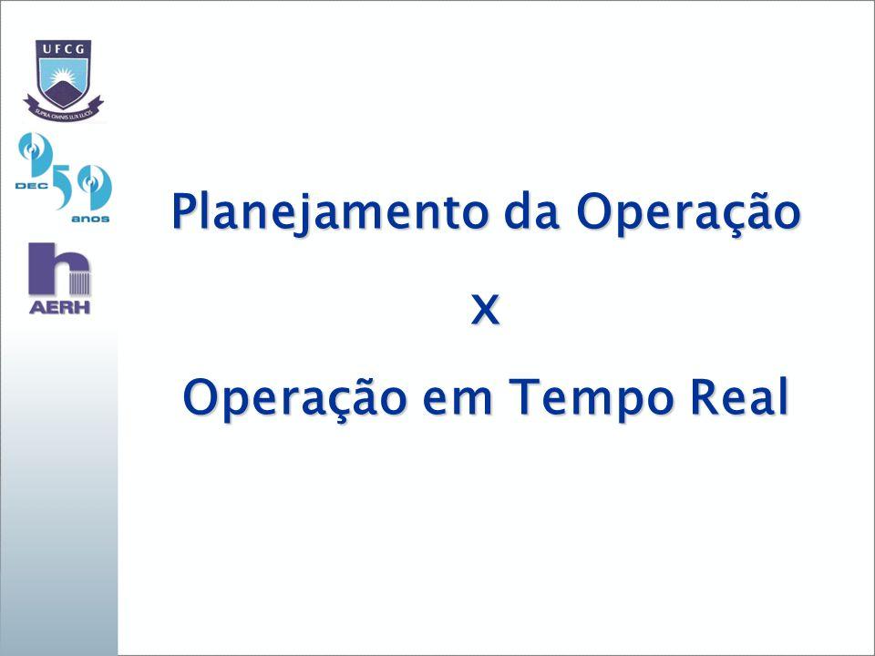 Planejamento da Operação x Operação em Tempo Real