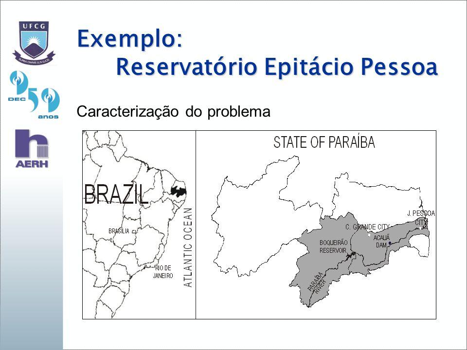 Exemplo: Reservatório Epitácio Pessoa Caracterização do problema