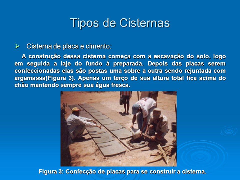 Cisterna de tela e arame: Cisterna de tela e arame: São cisternas construídas com tela de arame e concreto.